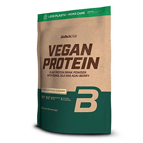 Biotech VEGAN PROTEIN proteine vegetali con bacche di Goji Acai e farina di Quinoa (torta alla vaniglia, 1000g)