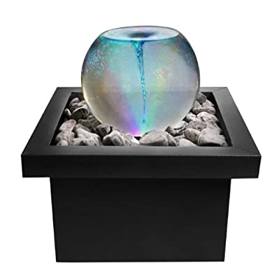 Vortex Whirlpool Orb Sphere Water Feature with Colour Changing Lights from Primrose