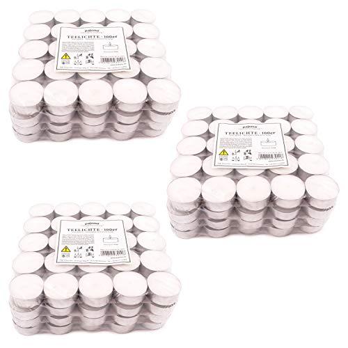 pajoma Teelichte unbeduftet 300 Stück, Brenndauer: 4 Std.