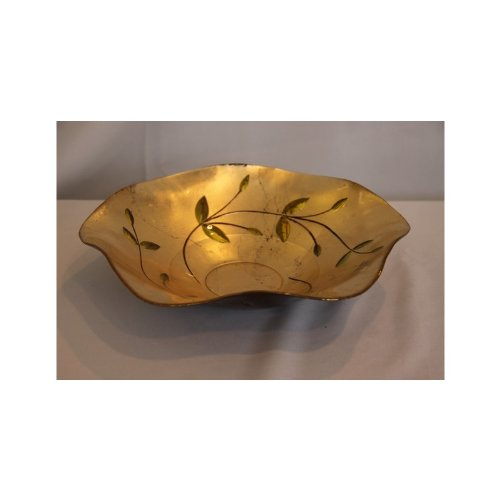 Handarbeit Obstschale Schale 30 cm Wellig mittel Deko Tischdeko design