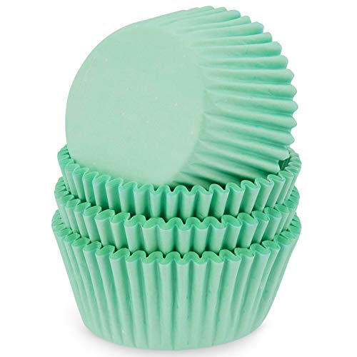 MoNiRo Papier Muffin Förmchen - Cupcake Backform aus Papier Motiv Mint - Muffin Form - Cupcake Form - Papierförmchen - Cupcake Förmchen - Muffinform - Backförmchen - Muffinformen