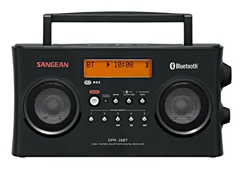Sangean-DPR-26BT DAB+ Radio | Draagbare Bluetooth radio | Zwart