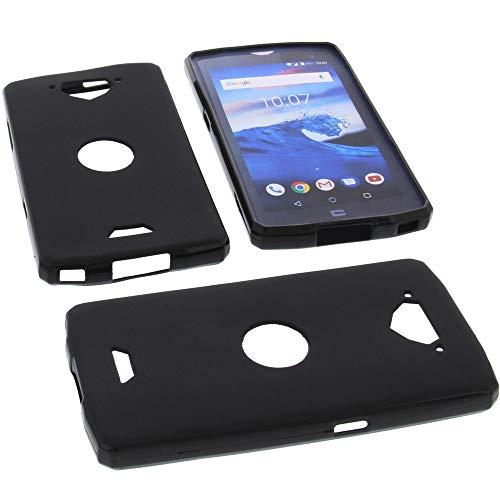 foto-kontor Hülle für CrossCall Core X3 Tasche Gummi TPU Schutz Handytasche schwarz