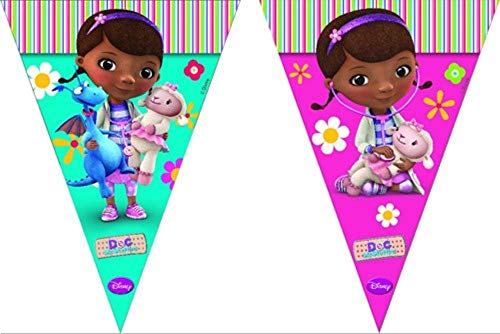 Procos Doc McStuffin Triangle Flag Banner ( 9 Flags )