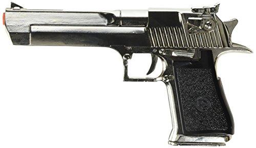 Deko Waffe Desert Eagle Pistole USA - Israel Silber 1982