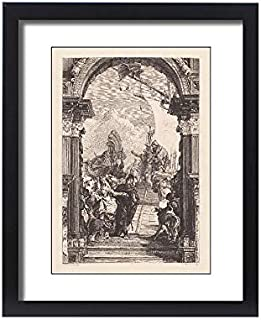 Media Storehouse Framed 20x16 Print of Marc Anthony and Cleopatra, Painted by Tiepolo, Palazzo Labia (18062955)