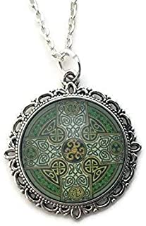Celtic Cross Necklace for Women - Celtic Knot Design - Handmade