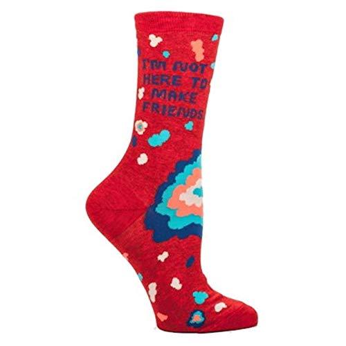 Blue Q Women's Not Here To Make Friends Socks 5-10 Multicol