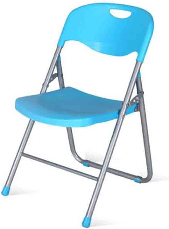 XXHDYR Office Training Meeting Plastic Computer Chair Dining Chair Folding Chair Stacking Chair (color   bluee)