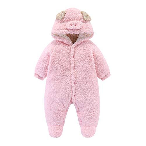 sunnymi Overalls mit Kapuze für Baby Jungen und Mädchen,0-18 Monate Kleinkind Baby...