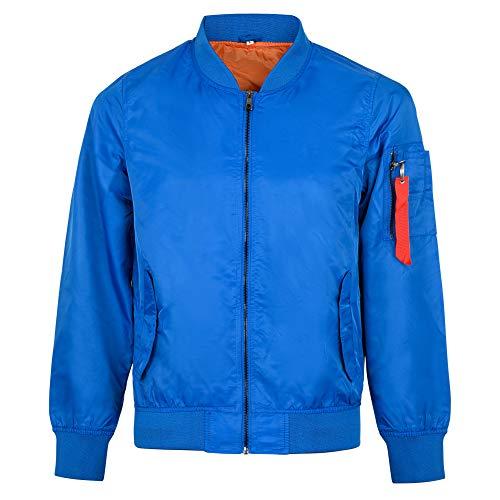 Blue Bomber Jacket Men's