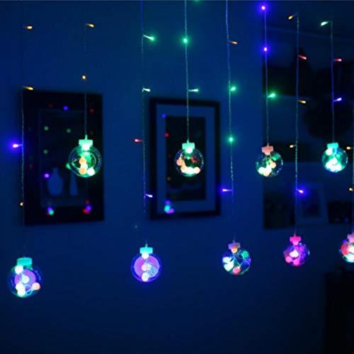 Ik wil mijn gordijnen, led-gordijnverlichting, decoratieve binnen- en buitenverlichting, 2,5 M12-bolellicht IP66, waterdicht, voor binnen/buiten/festivaldecoratie (afstandsbediening) verlichting