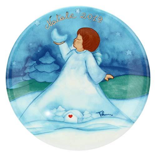 THUN ® - Piattino Limited Edition 2019 - Linea Chiaro di Luna - Piccolo - Porcellana - 19,5 cm ø