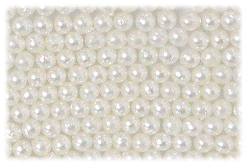 SHAREKI ビーズパーツ アクセサリー材料 パール素材 穴無し パール 2.0mm 約400個 パールカラー