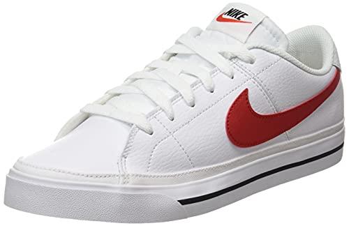 Nike Court Legacy, Zapatillas de Gimnasio Hombre, White/University Red-Black, 41 EU