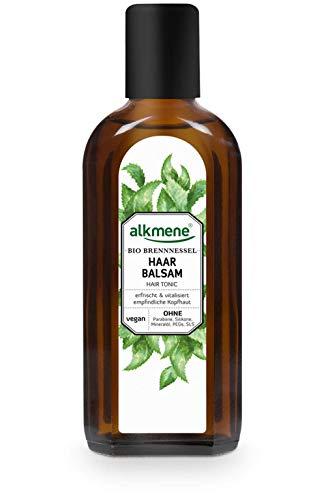 alkmene Haarbalsam mit Bio Brennnessel - Haarwasser mit Provitamin B5 für empfindliche Kopfhaut & feines Haar - Haarpflege vegan ohne Silikon, Parabene, Mineralöl, SLS & SLES (1x 250 ml)