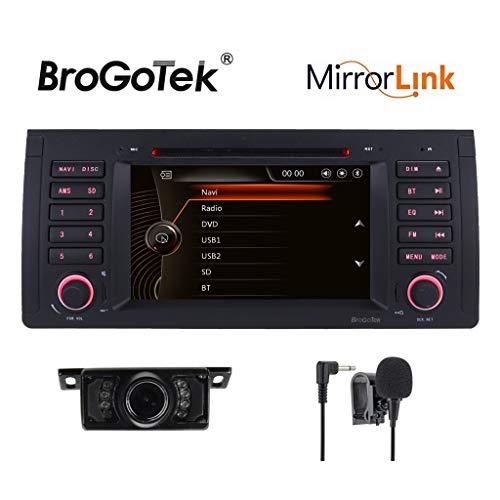 HD 7 pulgadas doble 1 Din sistema estéreo del coche pantalla táctil capacitiva Sat Navidad GPS navegación CD DVD para BMW E39 5 Serias E53 X5 serias E38 7 serias M5 Eu Map
