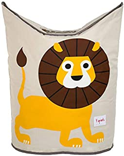 3 Sprouts Baby Laundry Hamper Storage Basket Organizer Bin for Nursery Clothes, Lion
