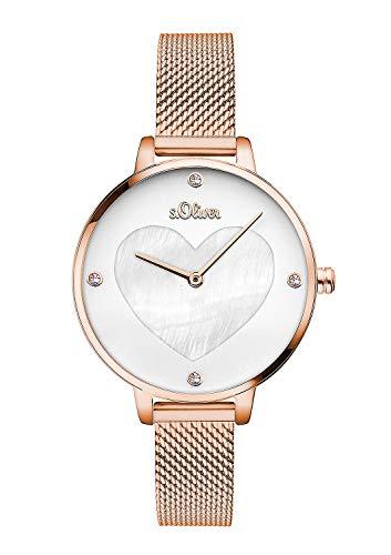 S.Oliver Damen Analog Quarz Armbanduhr SO-3473-MQ