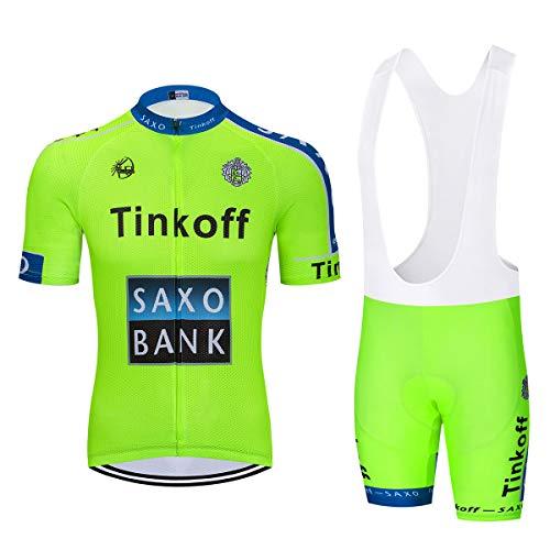 Heren fietsshirt met korte mouwen en 9D gel gevoerde korte koersbroek Fietskleding set Buitensportkleding