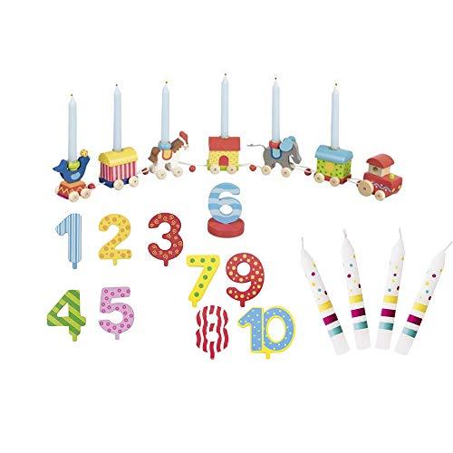 Goki Geburtstagszug Zirkus Zikuswelt Zahlen 1-10 10 Kerzen Susibelle - Die LuLuGoS