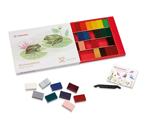 Stockmar Beeswax Block Crayons 32 Colors