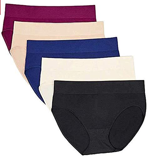Carole Hochman Ladies? 5-Pack Hipster Panty, Basic, X-Large