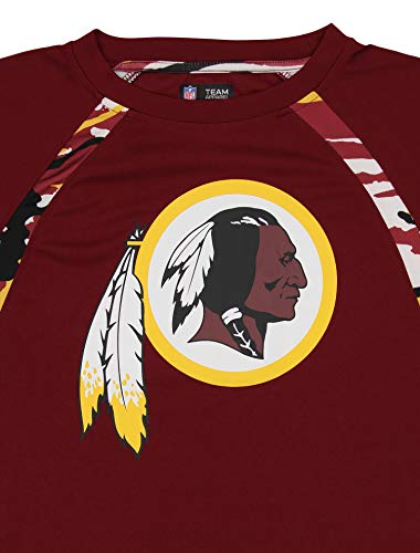 Zubaz NFL Men's Camo Solid T-Shirt, Washington Redskins Small