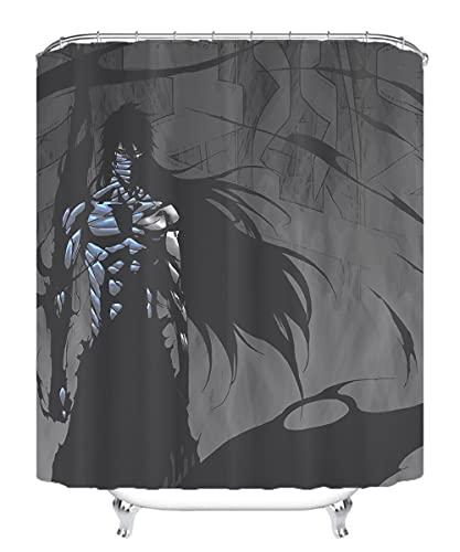 YITUOMO Nationalheld Duschvorhang wasserdichter Schimmel Badezimmervorhang Wasserbad Vorhang Polyesterfaserstoff Bleach Anime Charaktere 180x200cm