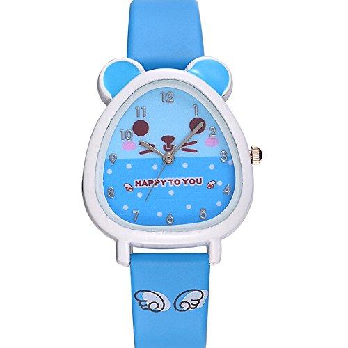 OSYARD Kinderuhr Sportuhr Lernuhr Uhr,Schön Jungen Mädchen Analog Quartz Uhren,Kinder Geburtstagsgeschenk 3D Cute Cartoon Armbanduhren,Teaching Handgelenk Armbanduhr Kleinkinder Geschenk