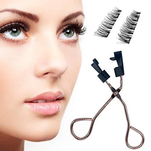 wisedwell Falsche Wimpern Magnetisch Set mit Wimpern Zange Weiche Quantenwimpern kein Kleber Erforderlich Leicht und Kompakt