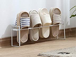 TOUA Stainless Steel Shoe Storage Rack Slippers Rack Slipper Organizer Living Room Bathroom Shoe Shelf Organizer