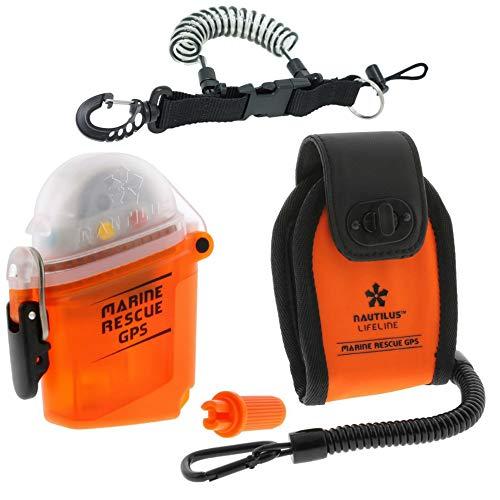 Nautilus LifeLine Marine GPS and Neoprene Pouch w/ free Coil Lanyard
