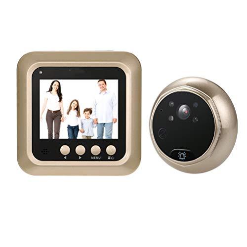 YLSZZTT 2.4'LCD Digital Mirilla Visor De 160 ° Puerta Ojo Timbre Cámara IR Visión Nocturna Toma De Fotografías Grabación De Video Tarjeta TF