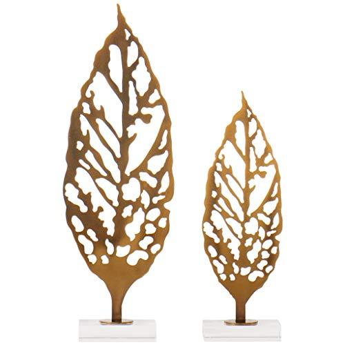 YHshop Árbol Piedra Suerte Hoja China del Metal decoración de Cristal Base de la Sala de TV Gabinete Porche Estudio Decoración Decoración de la Habitación Árbol Feng Shui