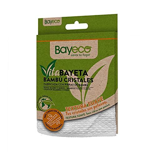 Bayeco Siente tu Hogar Vitabayeta Bambú Cristales - 100% Microfibra - Producto Eco-Friendly: Fabricado con Un 100% de Fibras de Bambú - Textura Suave - Secado Excelente - 1 Unidad 21 g
