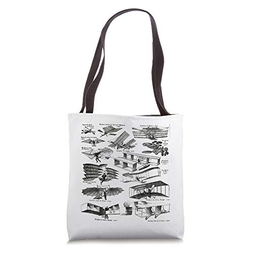 Vintage Retro Airplane Flying Pilot Aviation Geeks french Tote Bag