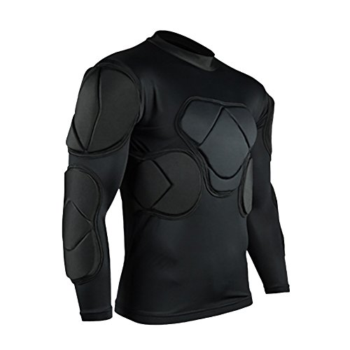Jellybro Men's Padded Football Protective Gear Set Training Suit for Soccer Basketball Paintball Rib Protector