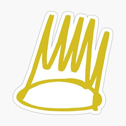 J. Cole - Born Sinner Crown Sticker - Sticker Graphic - Auto, Wall, Laptop, Cell, Truck Sticker for Windows, Cars, Trucks