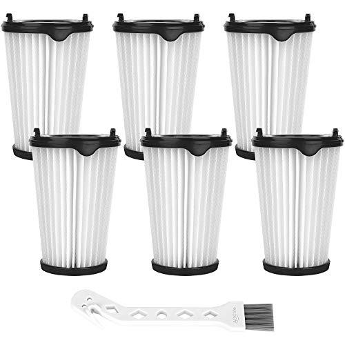 ABClife Lot de 6 filtres pour aspirateurs Ergorapido AEG CX7 CX7-2 pour tous les modèles, filtres Hepa de rechange Filtre de remplacement et 1 Brosses de Nettoyage(AEG AEF150, Electrolux AEF150)