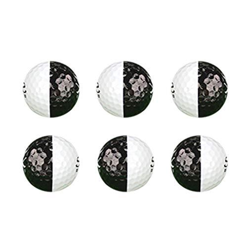 Freedomanoth Golf Trainieren Ball Entfernung Schwarzweiss Golfball Toure -PU 2 Lagen Zubehör Für Putter Hoher Rückprall, Keine Verformung, Flugstrecke Vergrößern