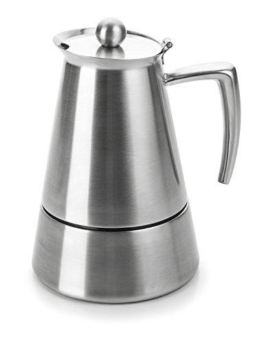 Lacor Hyperluxe Cafetera 4 Tazas, Plata
