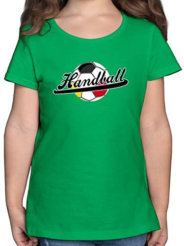 Handball WM 2021 Kinder - Handball Deutschland - 104 (3/4 Jahre) - Grün - Deutschland - F131K - Mädchen Kinder T-Shirt