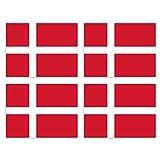 KIWISTAR Aufkleber 4,5 x 3,4 cm Dänemark - Land Staat Autoaufkleber Flagge Länder Wappen Fahne Sticker Kennzeichen