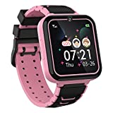 Kids Smartwatch for Boys Girls Phone - 1.54'' HD Touch Screen Smartwatch with Two Way Call SOS Flashlight Games Music Player Camera Alarm Clock as 4-12Y Students Children Birthday Gift (PINK)