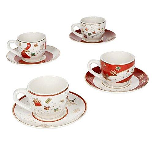 Brandani 53015 Alleluia Tazze Da Caffè In Porcellana, Multicolore