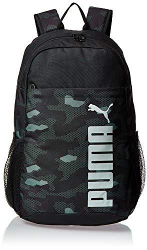 PUMA Style Backpack Mochilla, Adultos Unisex, Black-Camo AOP, OSFA