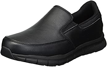 Skechers for Work Women's Nampa-Annod Food Service Shoe,black polyurethane,8.5 W US