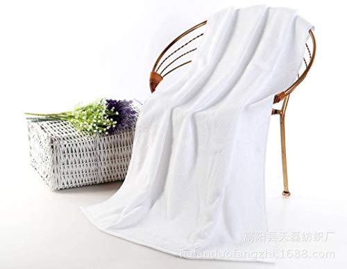 N-B Toalla de baño, Toalla Facial, Toalla de algodón Gruesa para Adultos, Toalla Absorbente Suave, Hotel, Hotel, salón de Belleza, Blanco