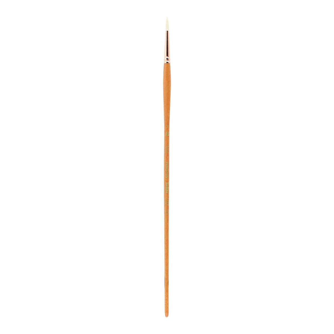Princeton Refine Artist Brush, Brushes for Oil and Acrylic Paint, Series 5400 Natural Chunking Bristle, Round, Size 2